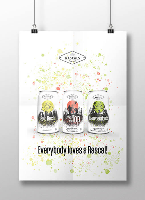 Maeve Harris Rascals Beer Can Poster