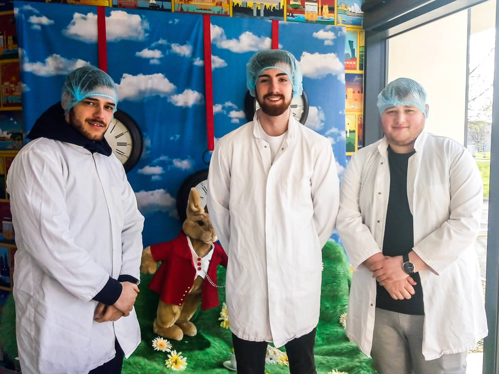 Business students trip to chocolate factory