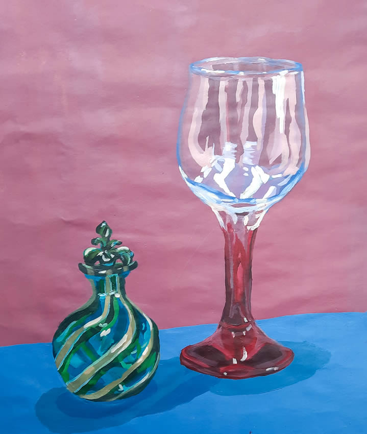 Emma McCamley Transparent Object Painting
