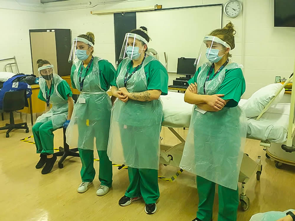 Jodie Scully, Jasmine Murray, Chloe Moran, Aoife Smith Patient Handling Training Day 10